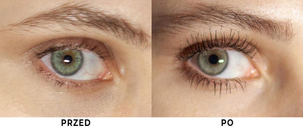 Nanolash przed i po