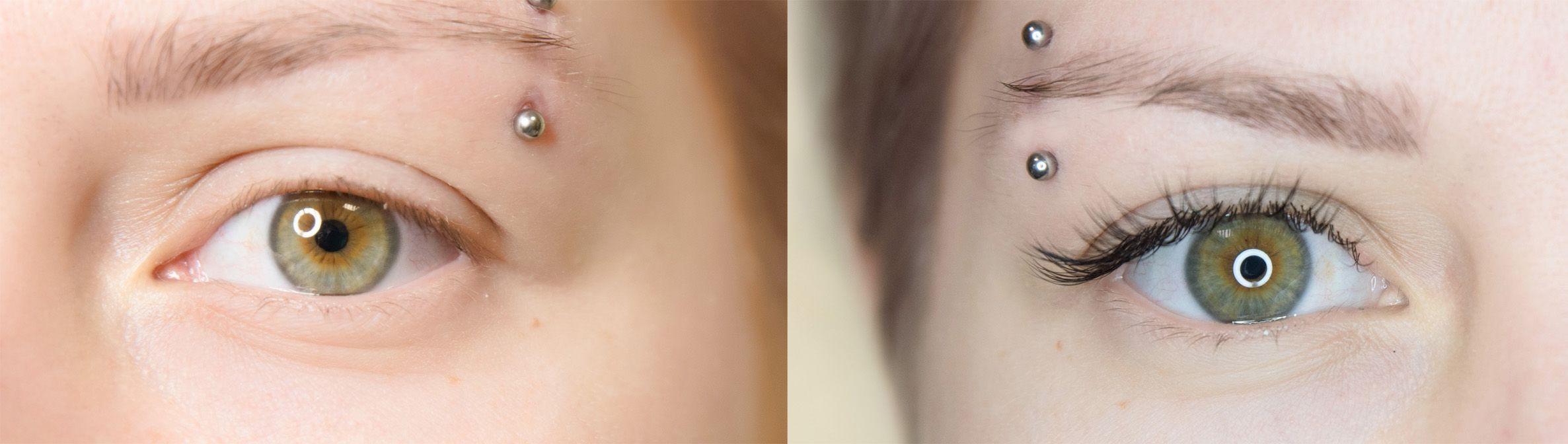 Lashcode - przed i po